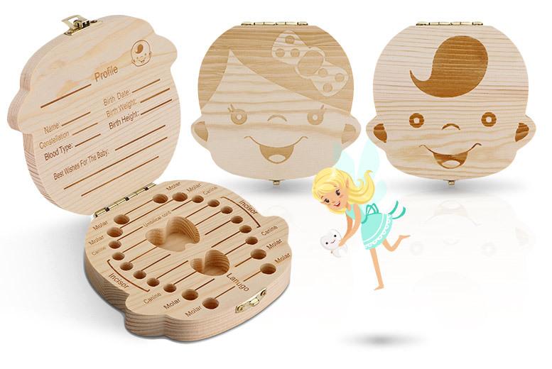 Baby Teeth Keepsake Box – Boy or Girl Designs! for £5.99