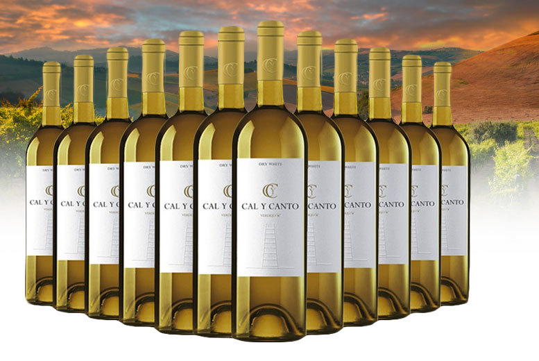 12-Bottle Case of White Cal Y Canto Wine for £39