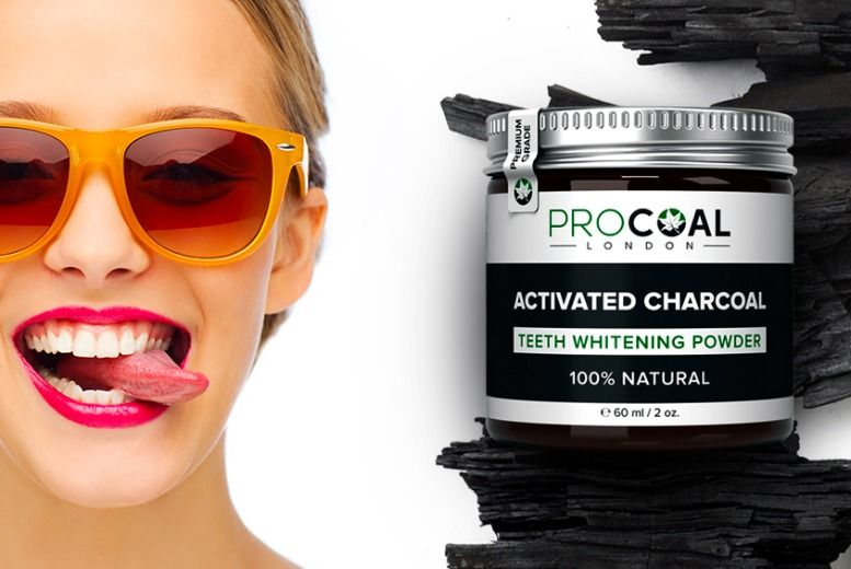100% Natural Activated Charcoal Teeth Whitening Powder by Procoal for £7
