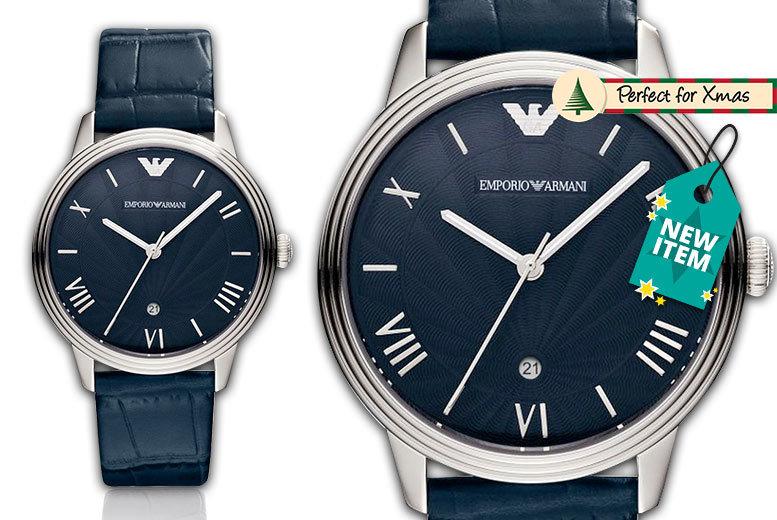 Men's Emporio Armani AR1651 Dino Leather Watch