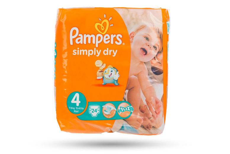 Pampers Simply Dry Nappies for £14.99