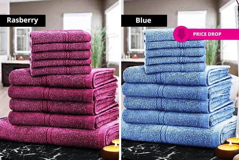 10pc Egyptian Cotton Towel Bale – 12 Colours! from £11