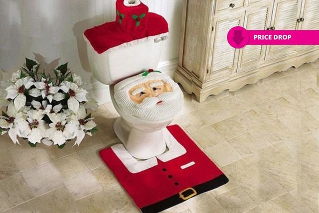 GBP599 Instead Of GBP1999 From Enorh For A Santa Toilet Seat Cover Set