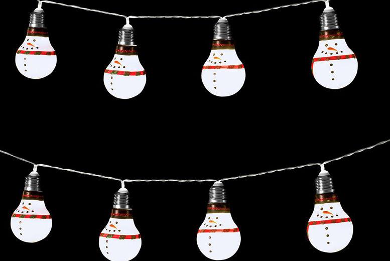 10 Christmas Bulb String Lights – 2 Designs! for £8.99