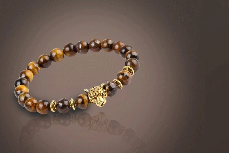 Unisex Tiger's Eye Charm Bracelet for £6