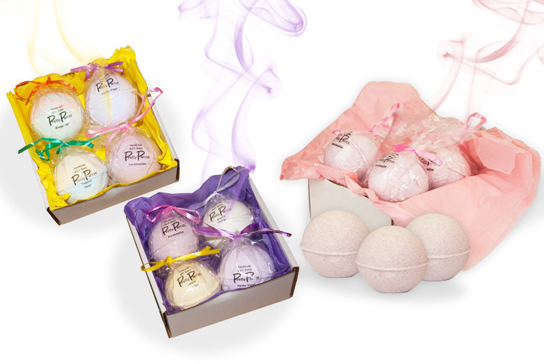 4 Luxury Bath Bombs – Mix and match With 6 Scents! for £8