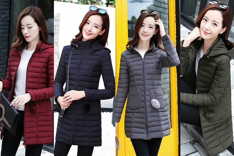 Quilted Winter Puffer Jacket – 4 Colours & UK Sizes 6-16! for £17