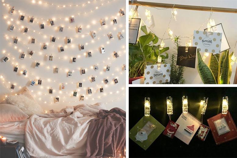 36 LED Photo Clip String Lights for £9.99