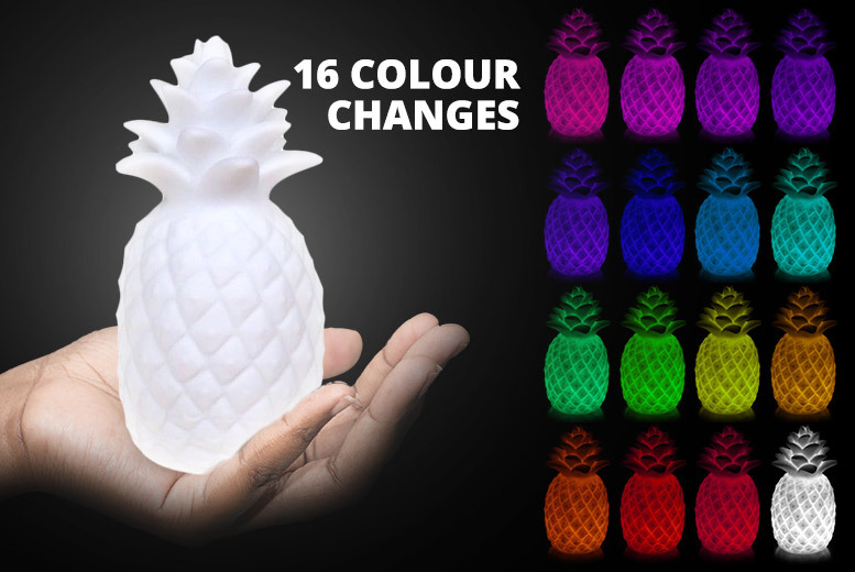 Colour-Changing Pineapple LED Night Light for £6.99