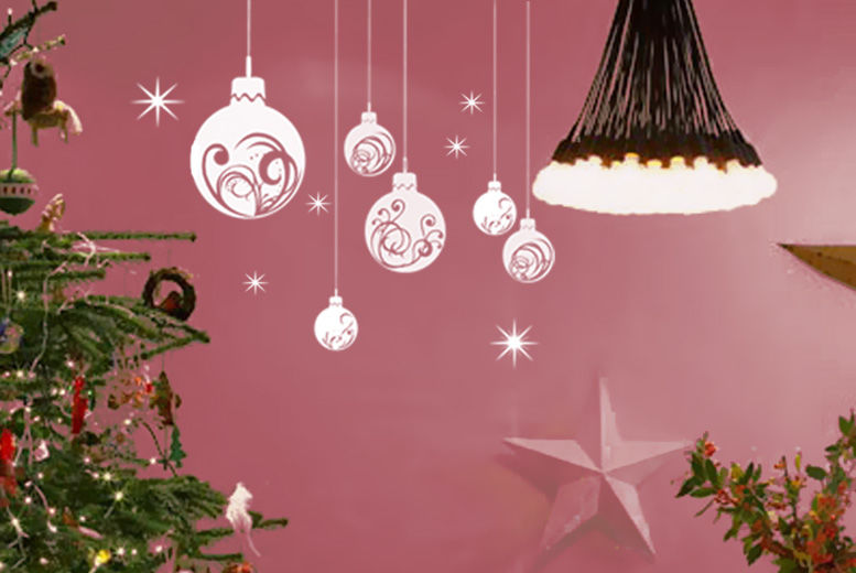 Christmas Bauble Wall Sticker – 20 Colours! for £12