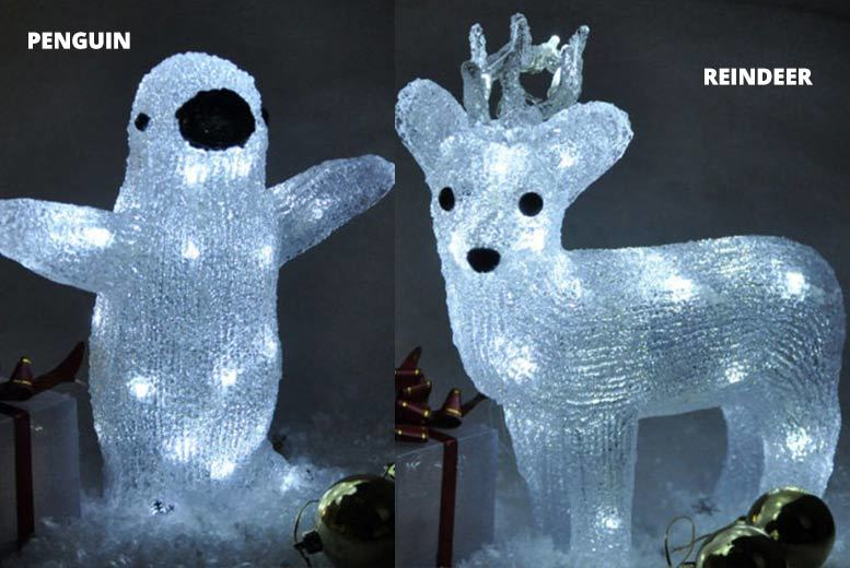 Crystal-Effect Standing Xmas Character Light – 3 Styles! from £12