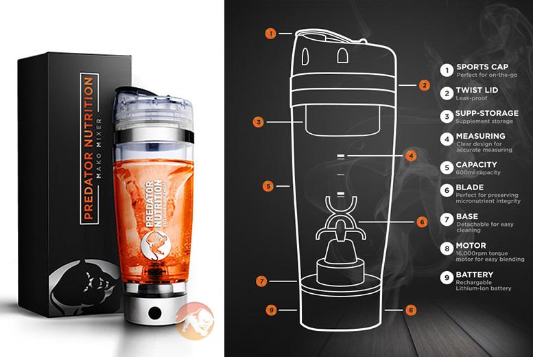 All-in-1 Vortex Mixer & Shaker Bottle for £19