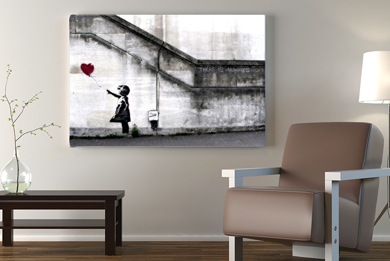 Banksy Canvas – A1-A4 Sizes and 51 Designs! from £4.99