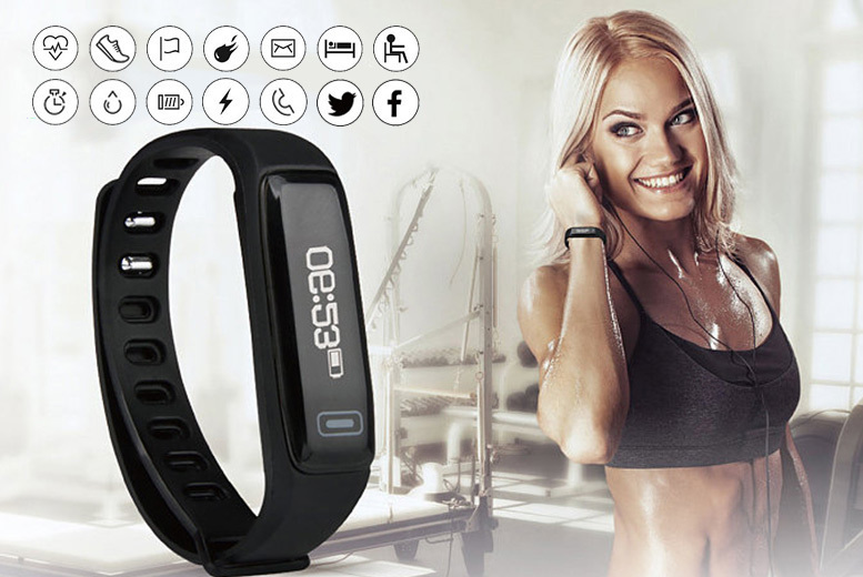 VeryFit Pro 14-in-1 Fitness Tracker with Heart Rate Monitor – 3 Colours! for £19