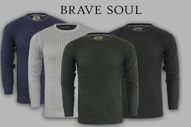 Men's Fisherman's Jumper – 4 Colours & Sizes S-XL! for £16