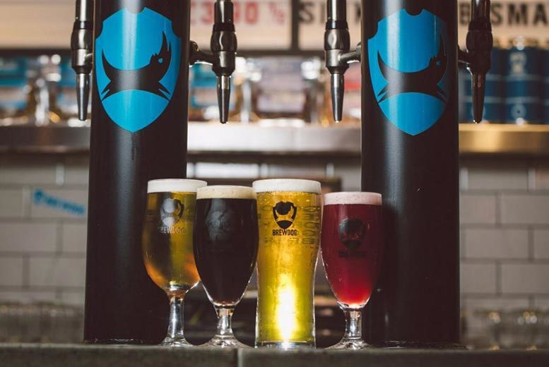 £19.99 for a tutored craft beer tasting experience for two with a selection of cheese and meats at BrewDog - choose from 26 locations and save 62%
