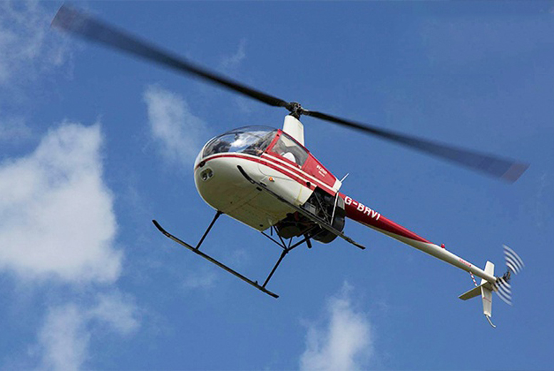£89 for a helicopter flying lesson for one including sparkling wine and a certificate, or £159 for two with Heli-Jet Aviation, Leeds