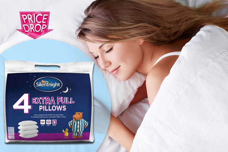 £14 instead of £30 (from Chums) for four extra full Silentnight pillows and protectors - save 53%