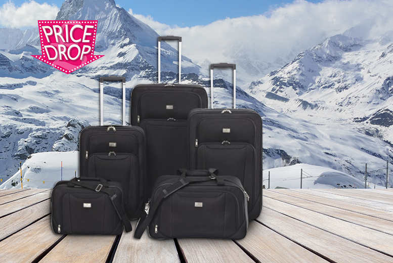 £59 instead of £194.91 for a five-piece matching family luggage set - save 70%