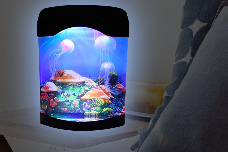 Colour Changing Jellyfish Aquarium Lamp for £12.99