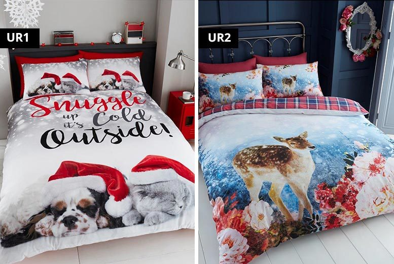 Xmas Themed Duvet Cover Set – 8 Designs! from £14