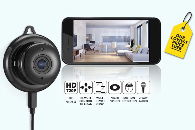 App-Controlled HD Home Security CCTV Camera for £19