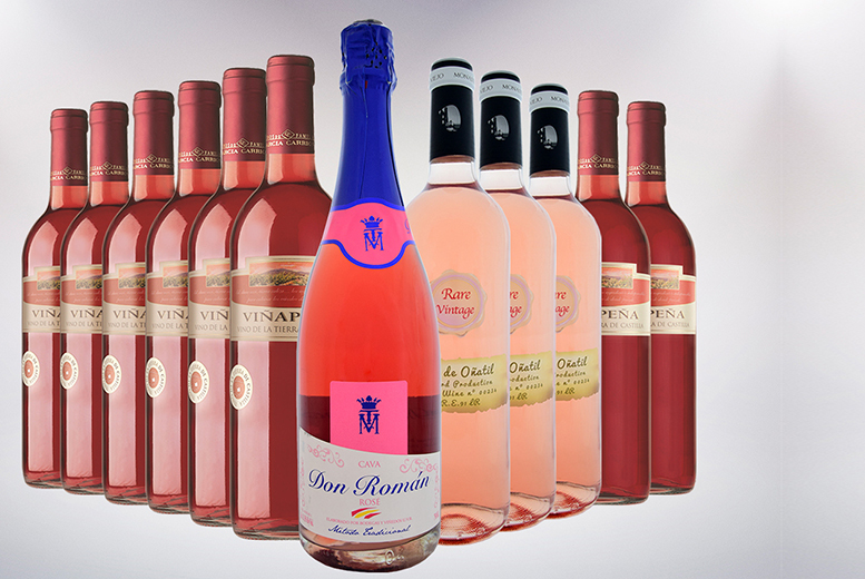 Spanish 12-Bottle Rosé and Sparkling Wine Hamper