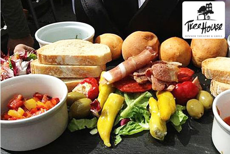 £15 for a Mediterranean sharing platter for two people with a glass of wine each, £30 for four people at The Tree House, Belfast - save up to 44%