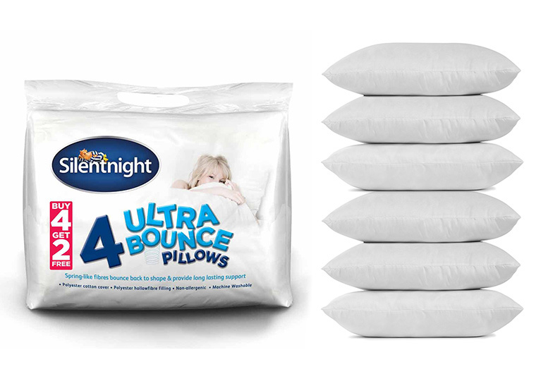 6 Silentnight 'Ultrabounce' Bounceback Pillows for £17