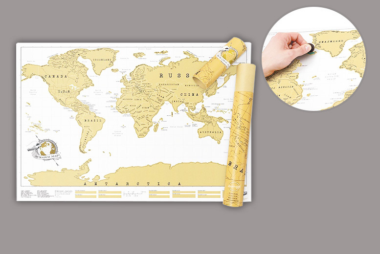 Large Scratch-off World Map for £8