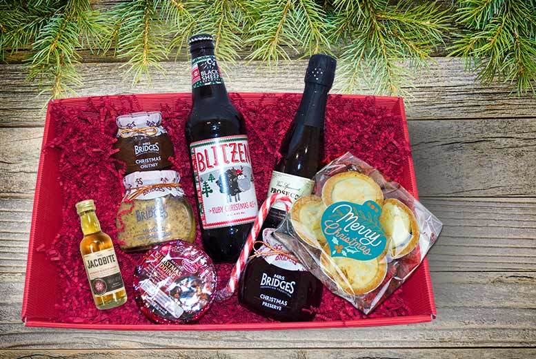 The Best Deal Guide - Luxury Christmas Treats Hamper - Prosecco, Whisky, Pudding & More!