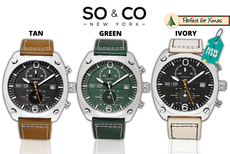 Men's So&Co New York Monticello Watch – 3 Colours!