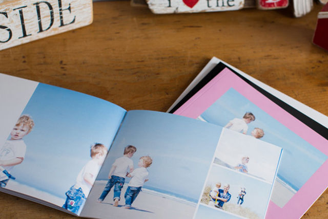 personalised square softcover photo book