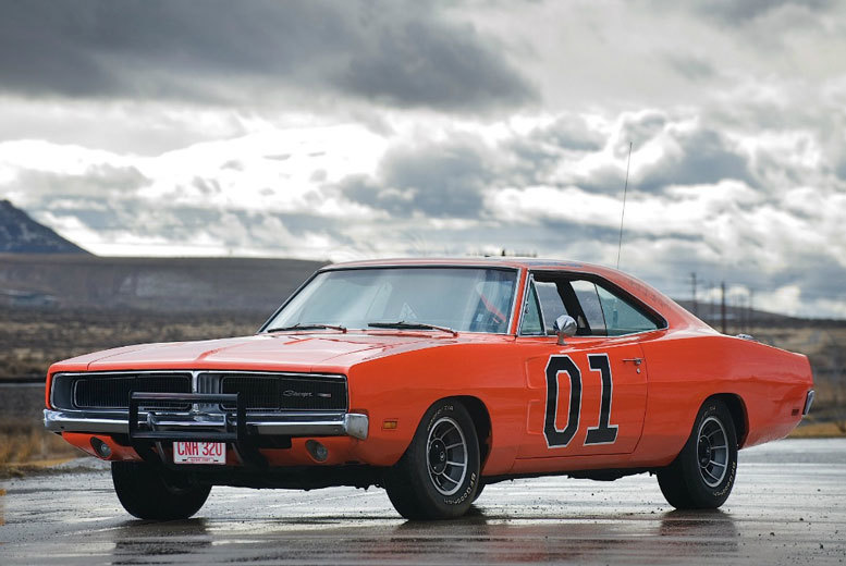 £39 instead of £99 to drive three laps in the famous 'The Dukes of Hazzard' General Lee Dodger Charger with Car Chase Heroes - choose from five locations and save 61%