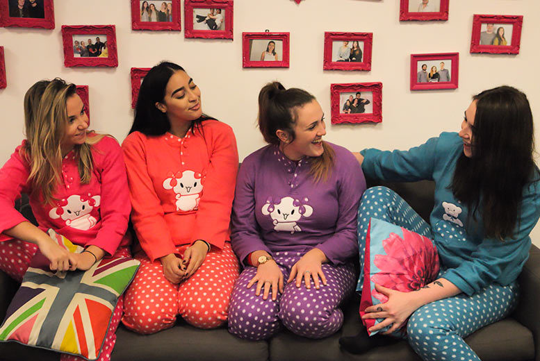 Animal Fluffy Fleece Pyjamas – 4 Colours & 5 Sizes! for £9