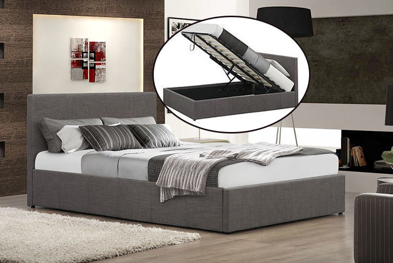 From £129 (from FTA Furnishing) for a fabric ottoman storage bed, from £205 to include a memory foam mattress - choose from four sizes, two colours and save up to 68%