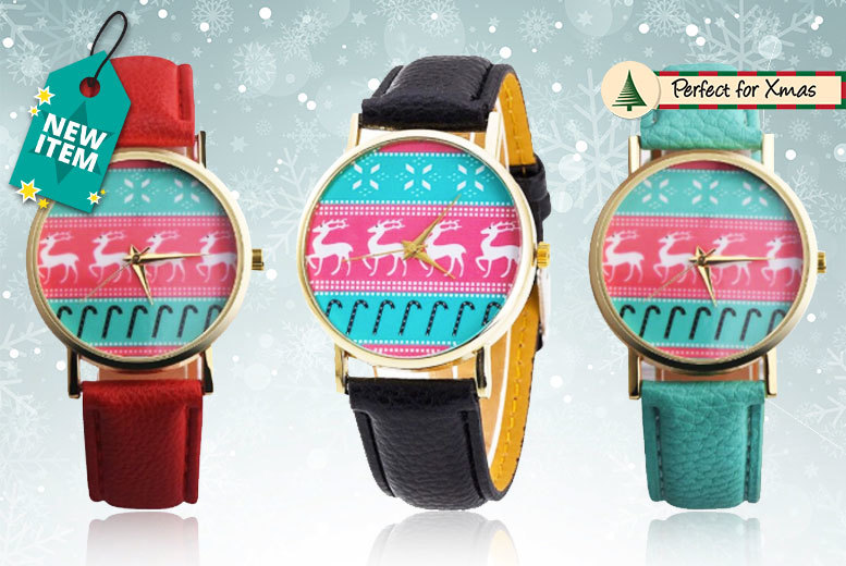 Christmas Reindeer Watch - 3 Colours!