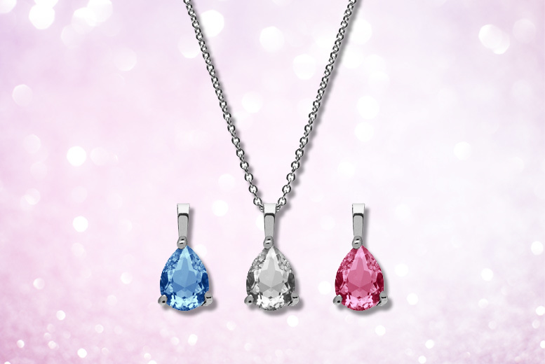 Pendant Set Made with Crystals From Swarovski® – 2 Styles! for £12