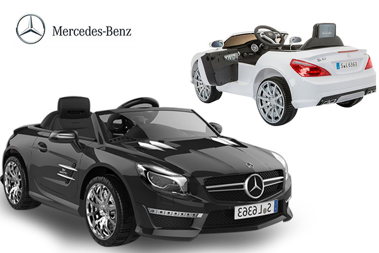 Licensed Mercedes 12V Ride-On Car with RC – 4 Colours! for £129