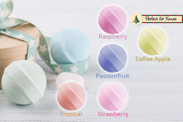10, 20 or 30 Bath Marble Fizzers – 5 Scents! for £4.99