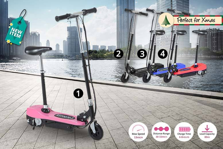 120W Electric Ride-On Scooter With Seat & LED Options – 11 styles! for £64