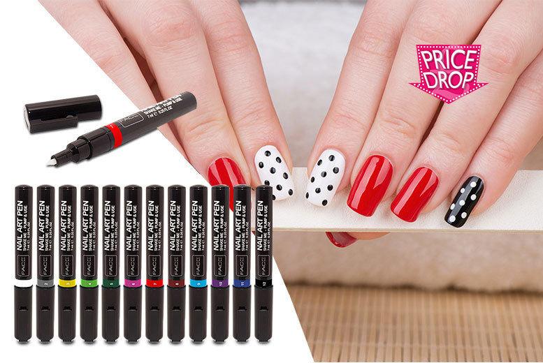 12pc Nail Design Pen Set for £9.99