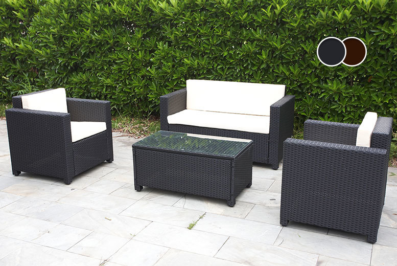 Wowcher deal 249 instead of 799 for a four piece for Garden furniture deals