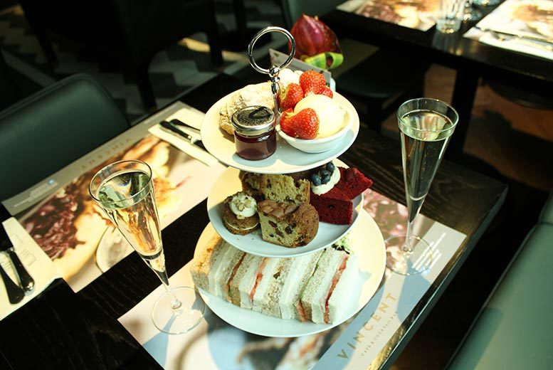 £25 for afternoon tea for two people including a glass of Prosecco each at Vincent Café & Cocktail Bar, Liverpool!