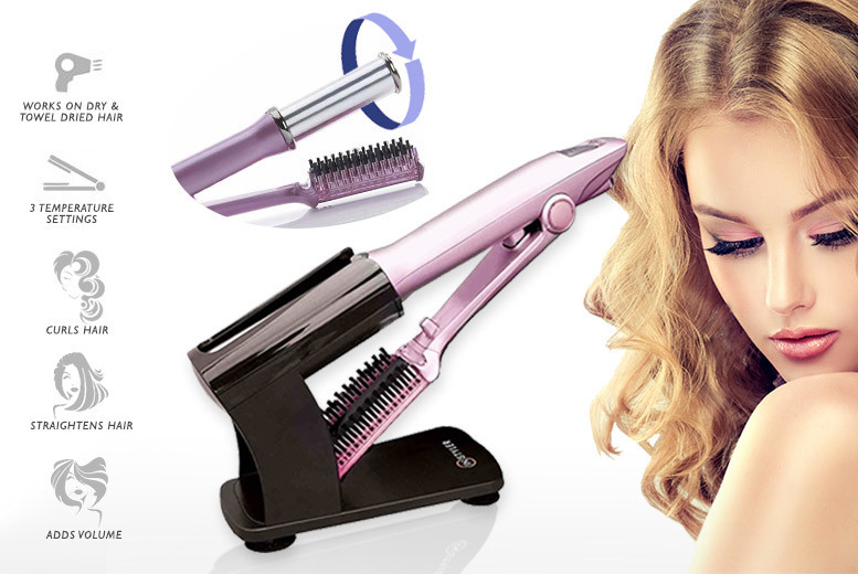 2-in-1 Straightening & Curling Brush for £29