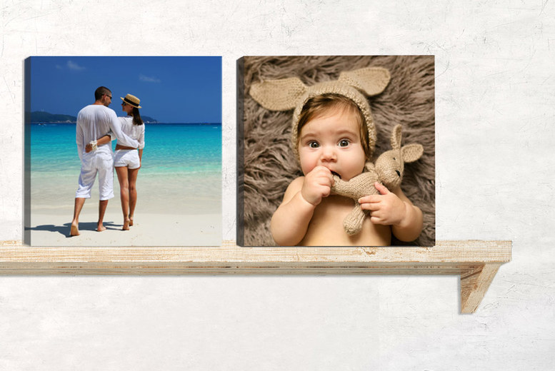 "Square ""8 x 8"" Personalised Canvas – With 18mm Frame! for £1.99"