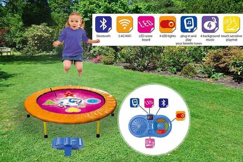 Kids' Bluetooth Dancing Trampoline Game – 2 Colours! for £29