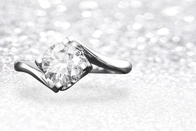 Cubic Zirconia Ring Made w/ Crystals From Swarovski® – 4 Sizes! for £10