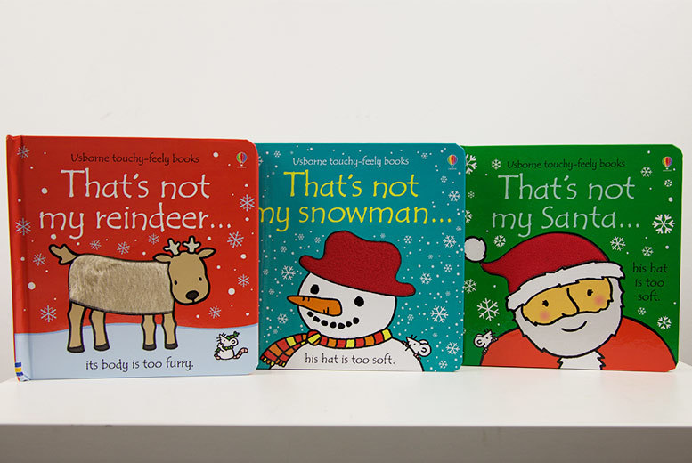 That's Not My Christmas' Touchy-Feely 3-Book Set for £14