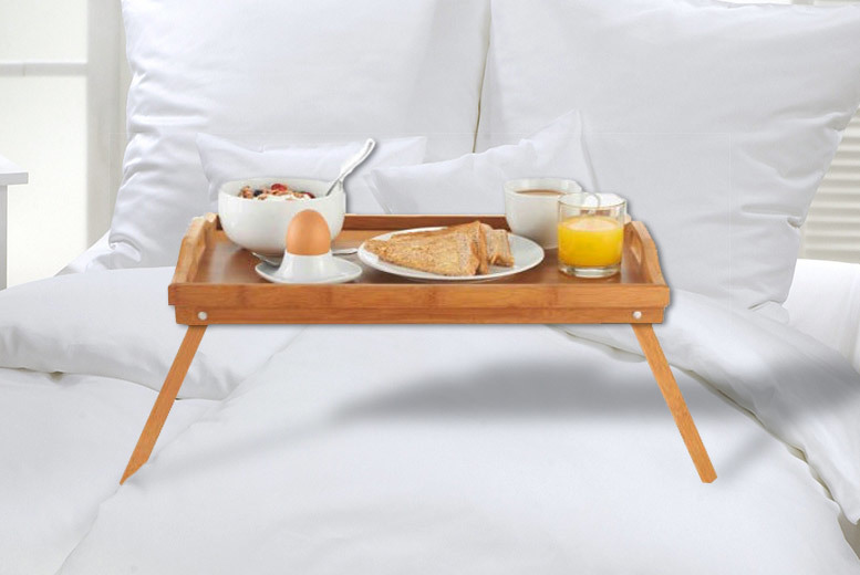 Bamboo Wood Serving Tray Table for £9.99